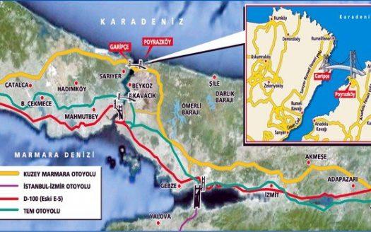 Northern Marmara Motorway on Istanbul Map