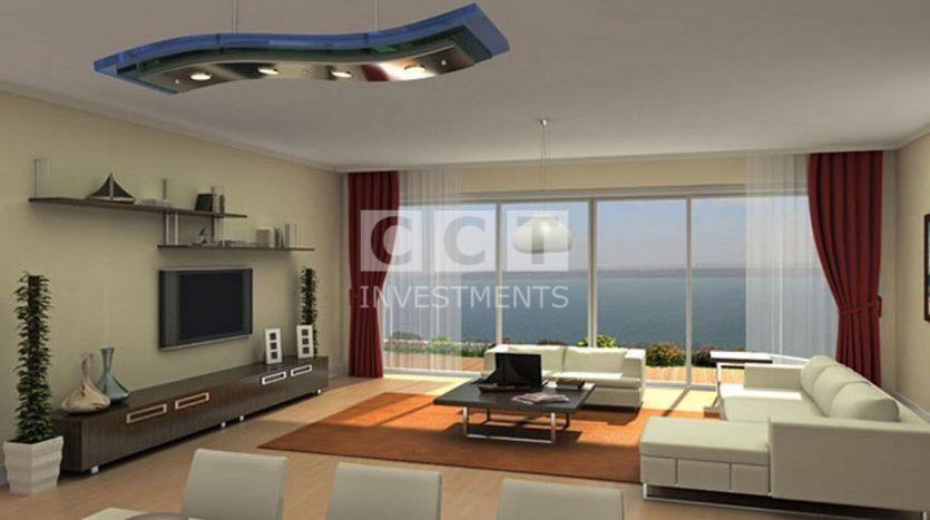 living room sea view photo