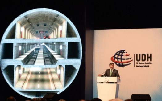 Three Layer tunnel of Istanbul with Davutoglu