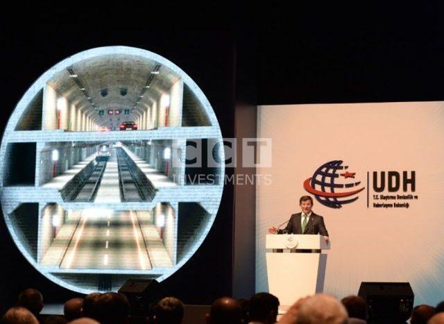 Three Layer tunnel of Istanbul with Davutoglu