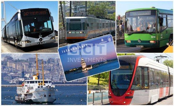 صورة المواصلات العامة في اسطنبول