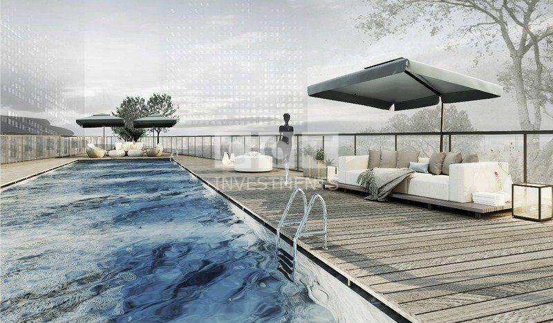 المسبح داخل المشروع الفندقي 313