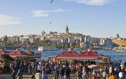 Istanbul photo with local people