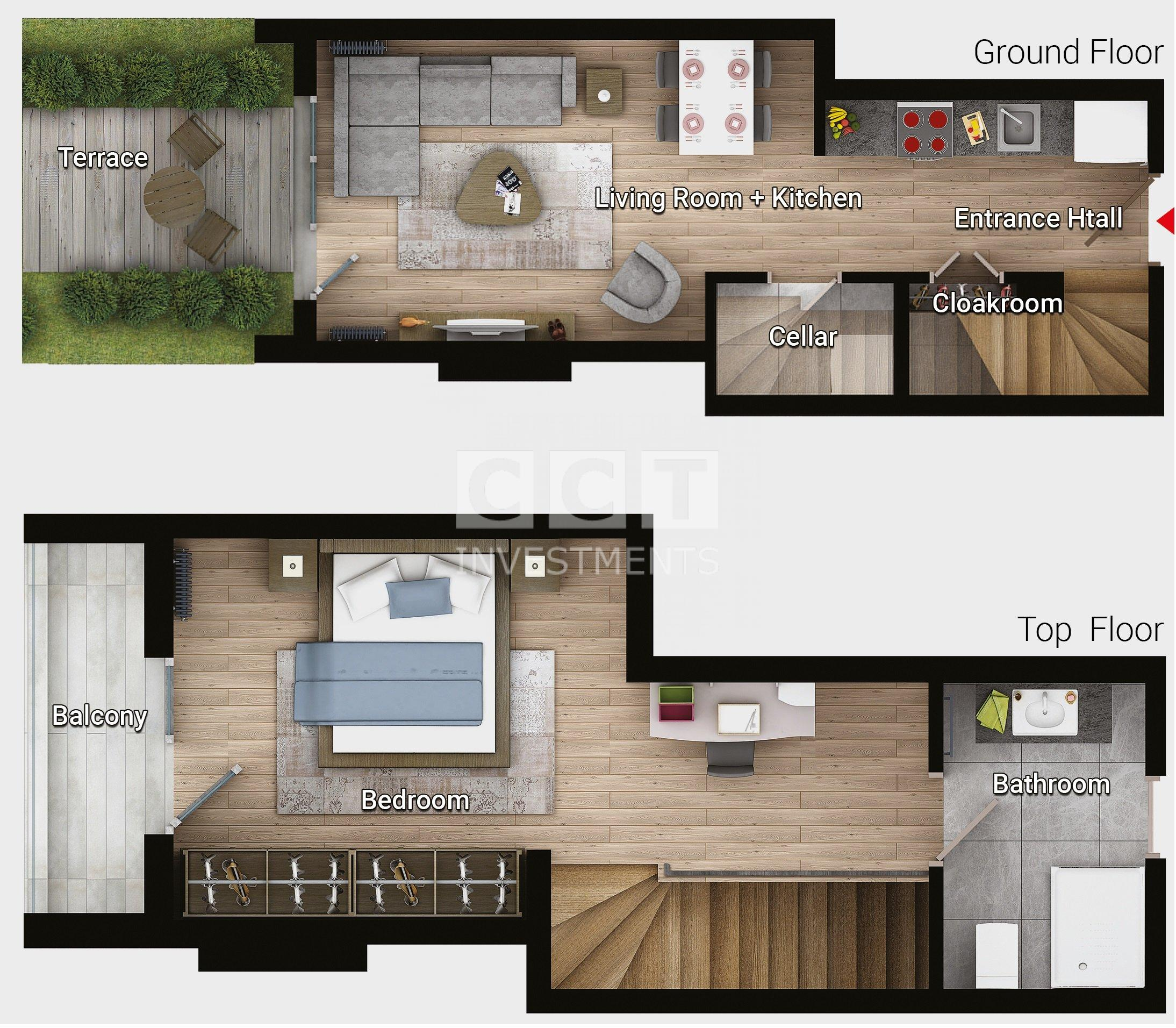 E 1+1 - Garden Duplex
