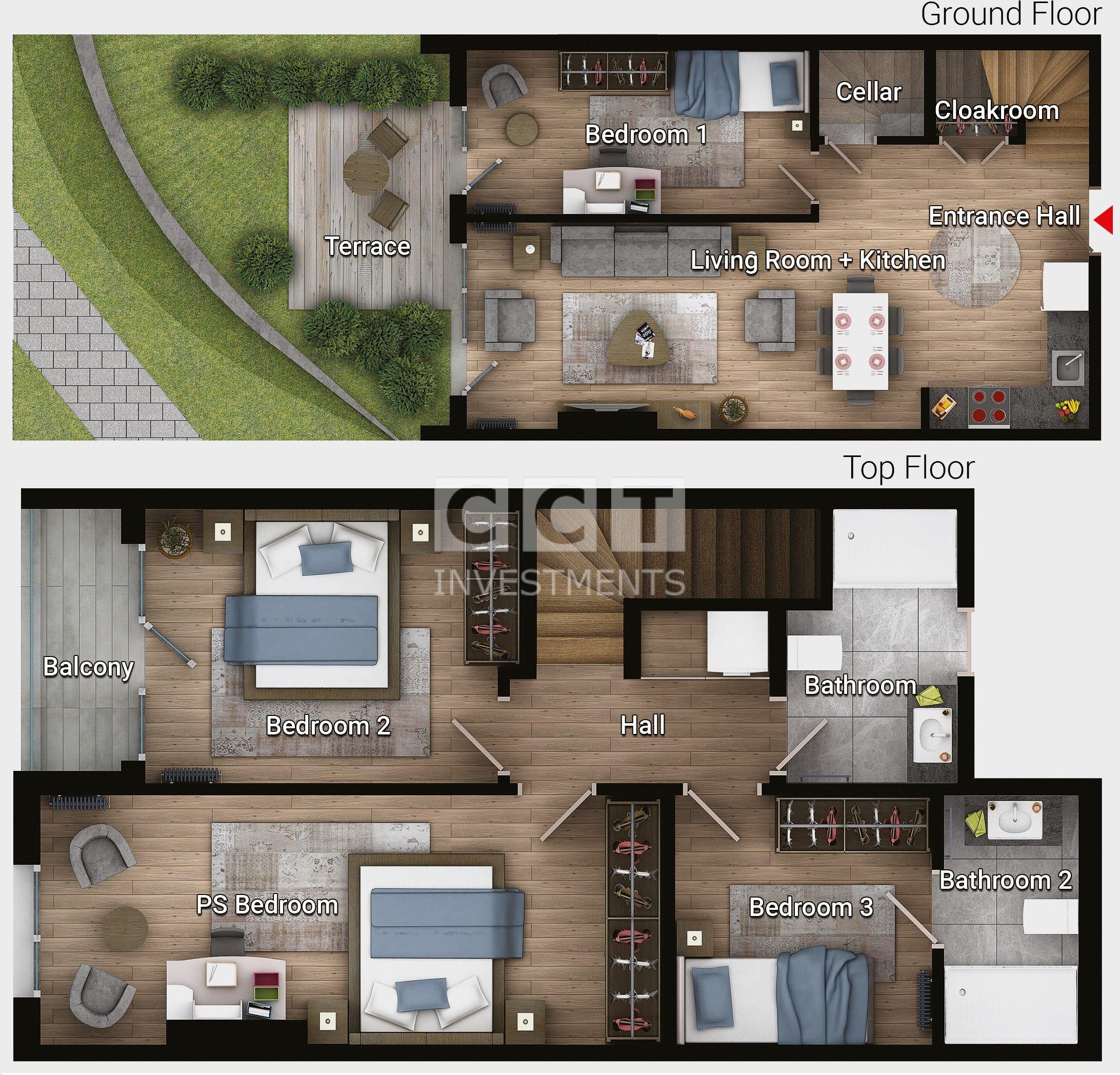 E 3.5+1 - Garden Duplex