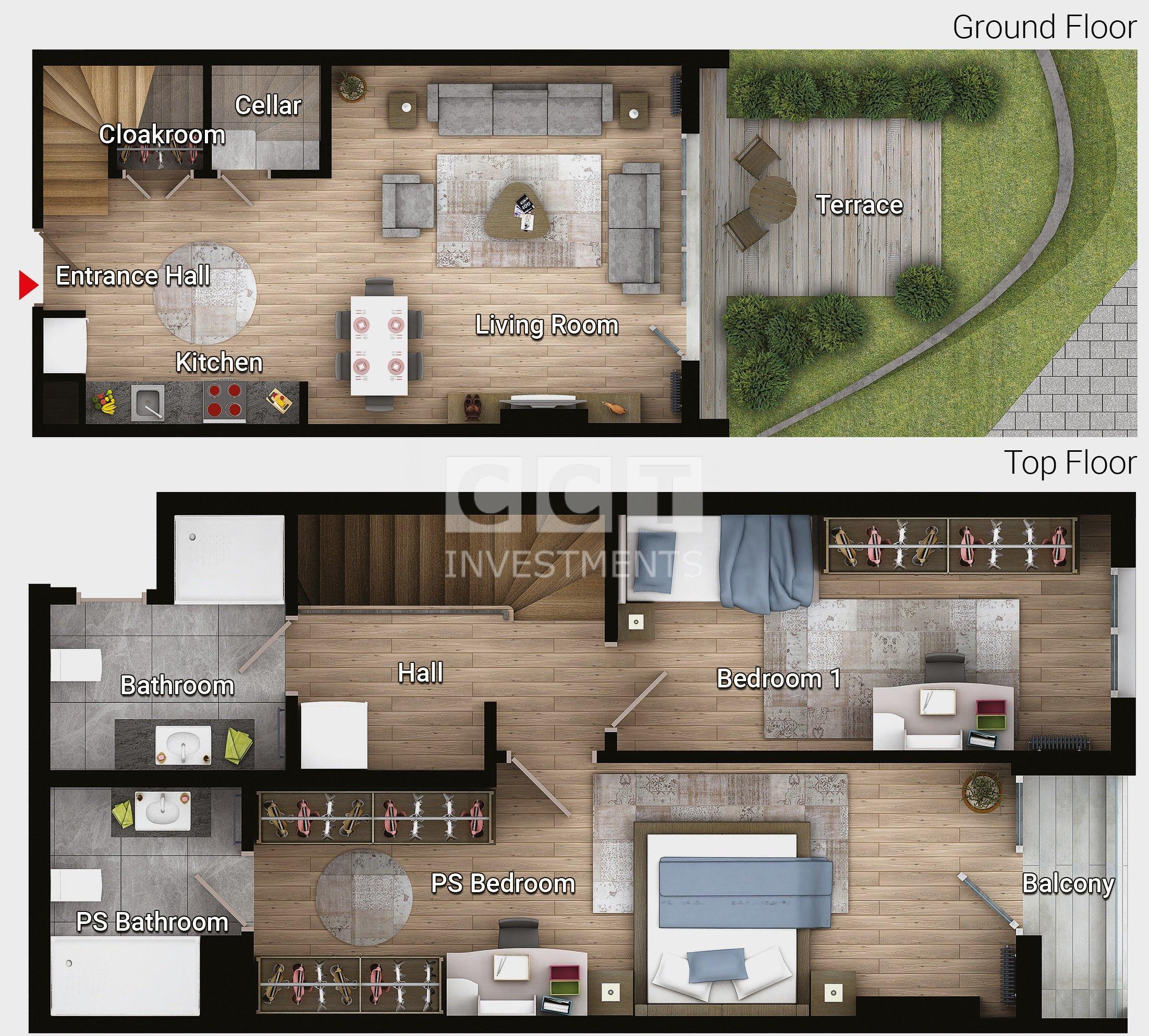 F 2+1 - Garden Duplex